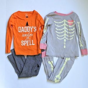 Set of two Halloween pajamas! 3t and 4t